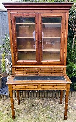 Lovely Antique 19Th Century French Faux Bamboo Cabinet Dresser, C1900