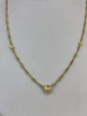 Roberto Coin Dog-Bone Diamond Station Necklace