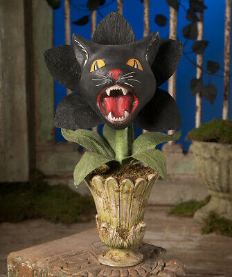 Bethany Lowe Halloween Scaredy Cat Orchid Plant TD9064 New 2020 Ships 6/10
