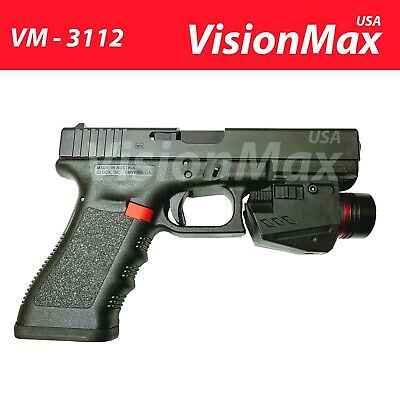 Tactical LED Flashlight Red Laser Sight Combo Fit Pistol G17 19 20 21 22 23 30