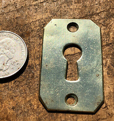 Antique Solid Brass Key Hole Cover ~ 1 3/4 x 1 1/8
