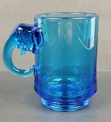 Imperial Glass 1969 Nixon-Agnew EWR Republican Elephant Blue Mug Political EUC