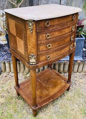 LOVELY ANTIQUE 19th CENTURY FRENCH MARBLE TOPPED SIDE TABLE CABINET, C1900