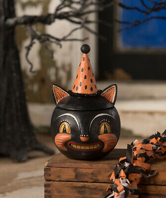 Bethany Lowe Halloween Grinning Vinny Black Cat JP9241 New 2020 Ships 6/10