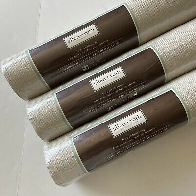 Allen Roth Paintable Wallpaper Wallcovering Textured 56 Sq Ft NIP 0506813