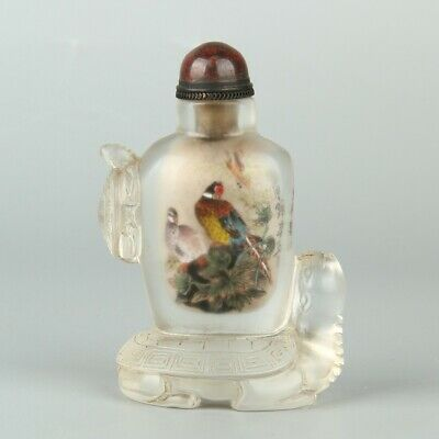 Chinese Exquisite Handmade Glass Inner painting Snuff Bottle