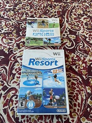 2 Nintendo Wii Games Wii Sports Resort and Wii Sports!
