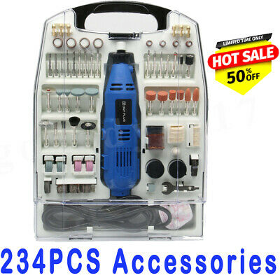 234Pc Rotary Multi Tool Mini Drill Dremel Compatible Accessories Hobby