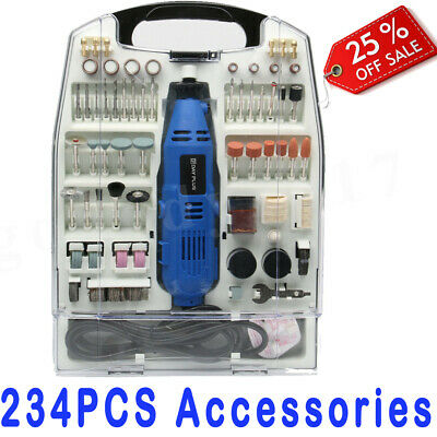 234PC Rotary Multi Tool Hobby Precision Drill FIT Dremel Type Accessories HOBBY