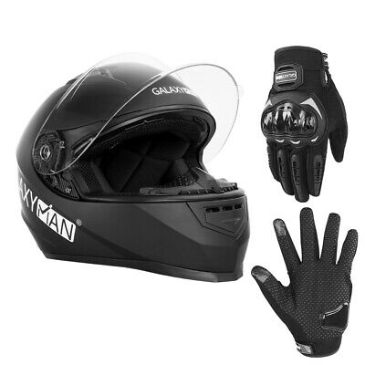 Safety Motorcycle Full Face Helmet Street Motorbike Helmets Racing + FREE GLOVES
