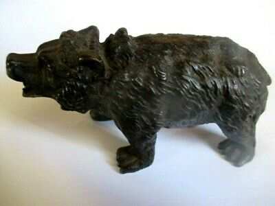 Victorian Bear Cast Iron Walking  12 Cm   6 Cm  12 Ozs    Millers Antiques 1880C