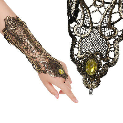 Hollow-Out Party Gothic Punk Arms Hand Accessories Cuff Bracelet Lace Glove