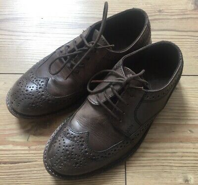 Next Boys Brown Leather Brogues size 1 Excellent Condition Worn Once F'POST