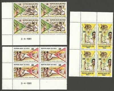 1981 Boy Scout Mali 4th African Conference corner blocs