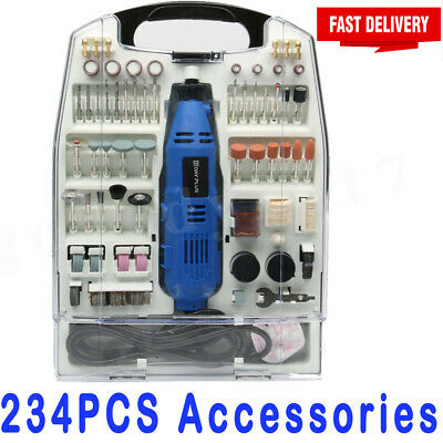 Rotary Multi Tool Set Dremel Compatible Accessories Mini Drill Hobby 234Pc