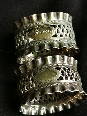 Pair Of Vintage Silver Plated Napkin Rings