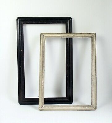 Two fine antique Chinese 19th century wood picture frames