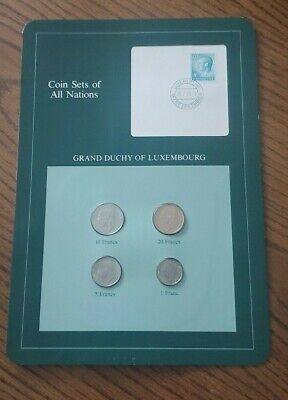 Franklin Mint Coin Sets of All Nations - Luxembourg 4 Coins & Stamp