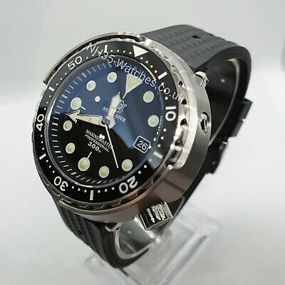 Black Steeldive Sd1975 Tuna, Automatic Nh35, Seiko Tuna Homage, 300M,