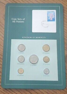 Franklin Mint Coin Sets of All Nations - Morocco 7 Coins & Stamp