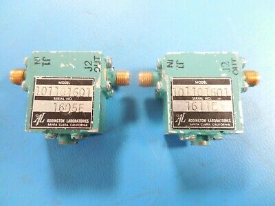 Addington Laboratories 101101601 RF Microwave Isolator (Lot of 2)