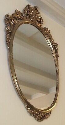 Vintage Large Oval Decorative Overmantel Mirror By VERONESE