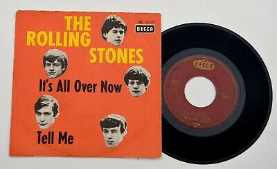 """The Rolling Stones – It's All Over Now / Tell Me - 7"""" Single - DE - 1964  Decca"""