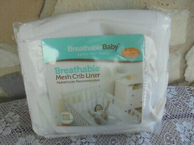 New White Breathable Mesh Crib Liner~~Pediatrician Recommended