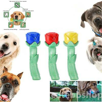 Chew Toy Dog Toothbrush Pet Molar Tooth Cleaning Brushing Puppy Stick Rose shape