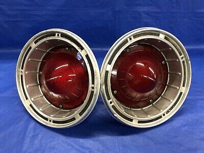 Vintage 1964 Ford Fairlane 500 Sport Coupe Tail Light Assemblies Good Condition
