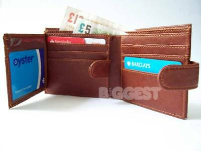 New PU Gents/Mens Wallet in 3 Colours Black Brown Trifold