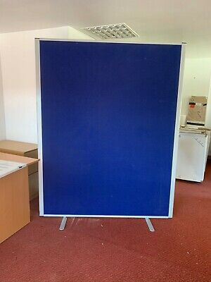 8 x Blue Free Standing Office Screen Partition Divider Display (Multiple Sizes)