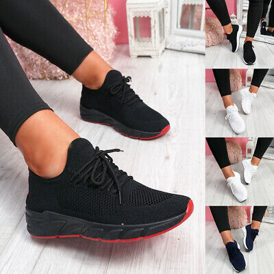 Womens Ladies Lace Up Sport Trainers Sneakers Running Walking Women Shoes Size