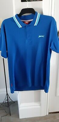 Mens Blue Collared Slazenger T Shirt. Excellent condition. Size Large