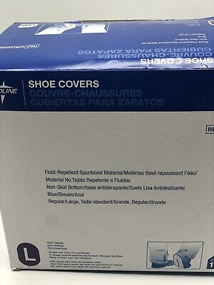 Medline Shoe Covers 100 Size Large