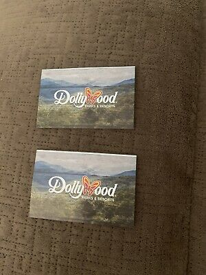 2 Dollywood Park Tickets  Bring a Friend Passes Valid June 20- August 2 2020