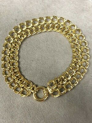 6 Wellingsale 14k Yellow Gold Polished White Pave 3mm ID Figaro Bracelet with Lobster Claw Clasp