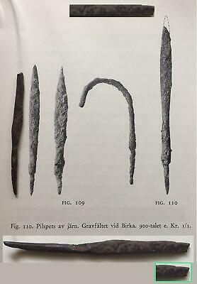 VIKING ARROW with DRAGON'S HEAD MODIFICATION,found in viking site-900 A.D.-RARE