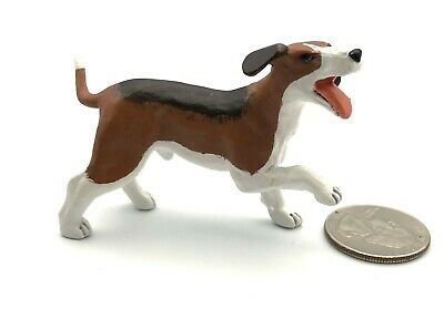 Papo Male BEAGLE Running Dog 2008 Retired 51026