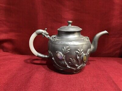 Magnificient Chinese tea Pot With jade Handle