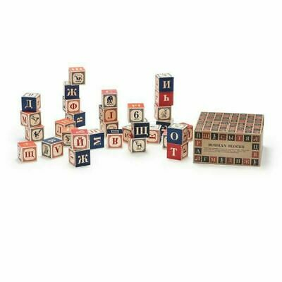 Uncle Goose Kids Children Learning Russian Blocks - Made In USA