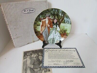 Gone With The Wind Home To Tara #6576 Golden Anniv. Plate Wl George 5Th Coa