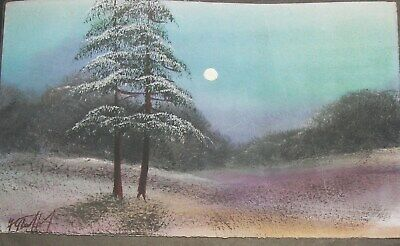 ANTIQUE WATER COLOUR ORIGINAL, signed  BY FRED STAFFORD - XMAS CARD