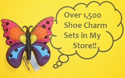 3D Butterfly Shoe Charms Shoe Buttons Plugs Decoration Cake Toppers  auction