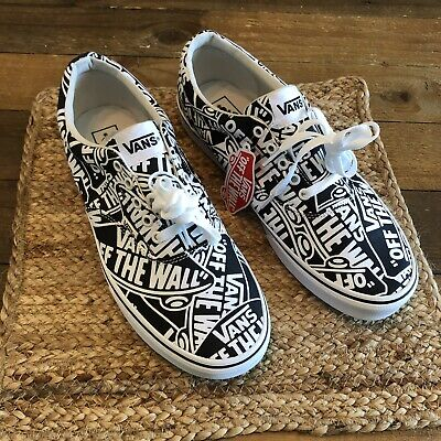 Vans Doheny Off The Wall Low Top Graphic Skate Shoes Men's Size 11 Black / White