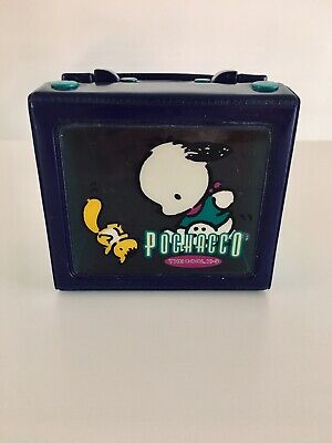 Vtg 1997 Sanrio Pochacco The Cool K9 Collapsible Snap Case Purse See Thru Purple