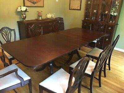 Chairs China Cabinet Buffet Table, Mahogany Dining Room Cabinet