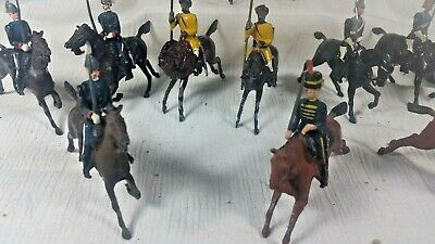 12 Britain Lead Mounted Calvary, vintage, VG played with, various uniforms