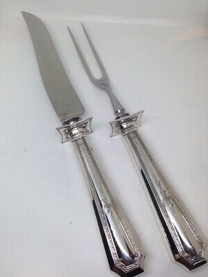 Durgin COLFAX Sterling Silver  2 PIECE HOLLOW HANDLE CARVING SET - No Monograms
