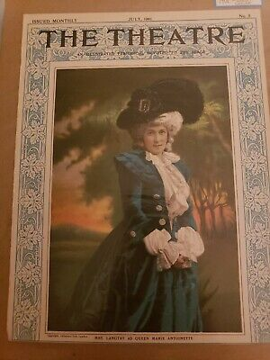 1901 vintage LILY LANGTRY as Marie Antoinette cover CHOICE